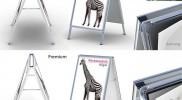 Displaysysteme – Kundenstopper – Werbetechnik Hügel