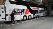 Referenzen Bus / Löwen Frankfurt – Werbetechnik Hügel